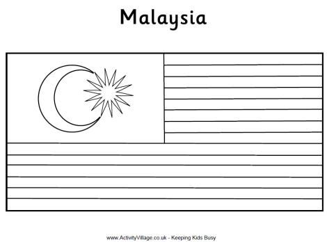 Malaysia Flag Colouring Page Flag Coloring Pages Malaysia Flag