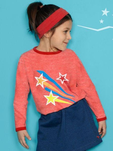Rood t-shirt met sterren - Dis une couleur