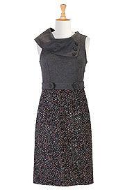 Vintage mixed media dress