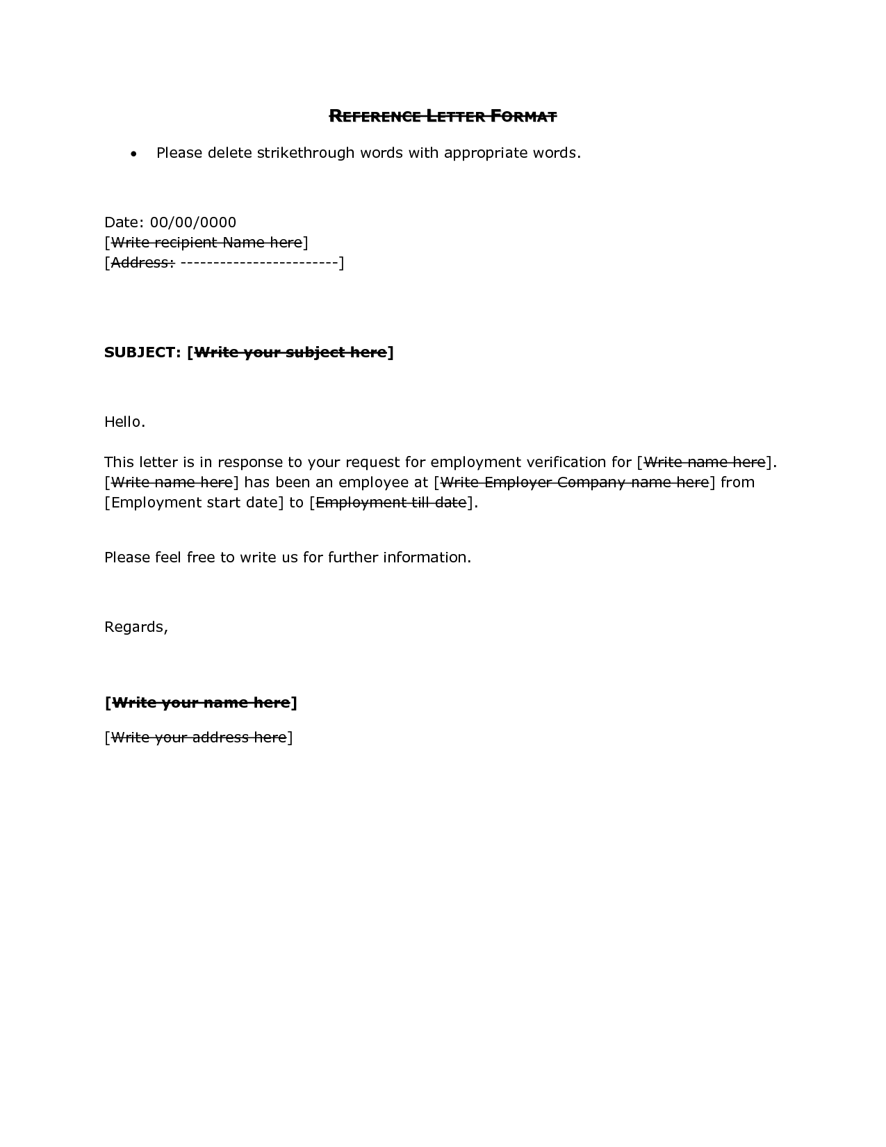 Simple reference letter format dawaydabrowa simple reference letter format expocarfo