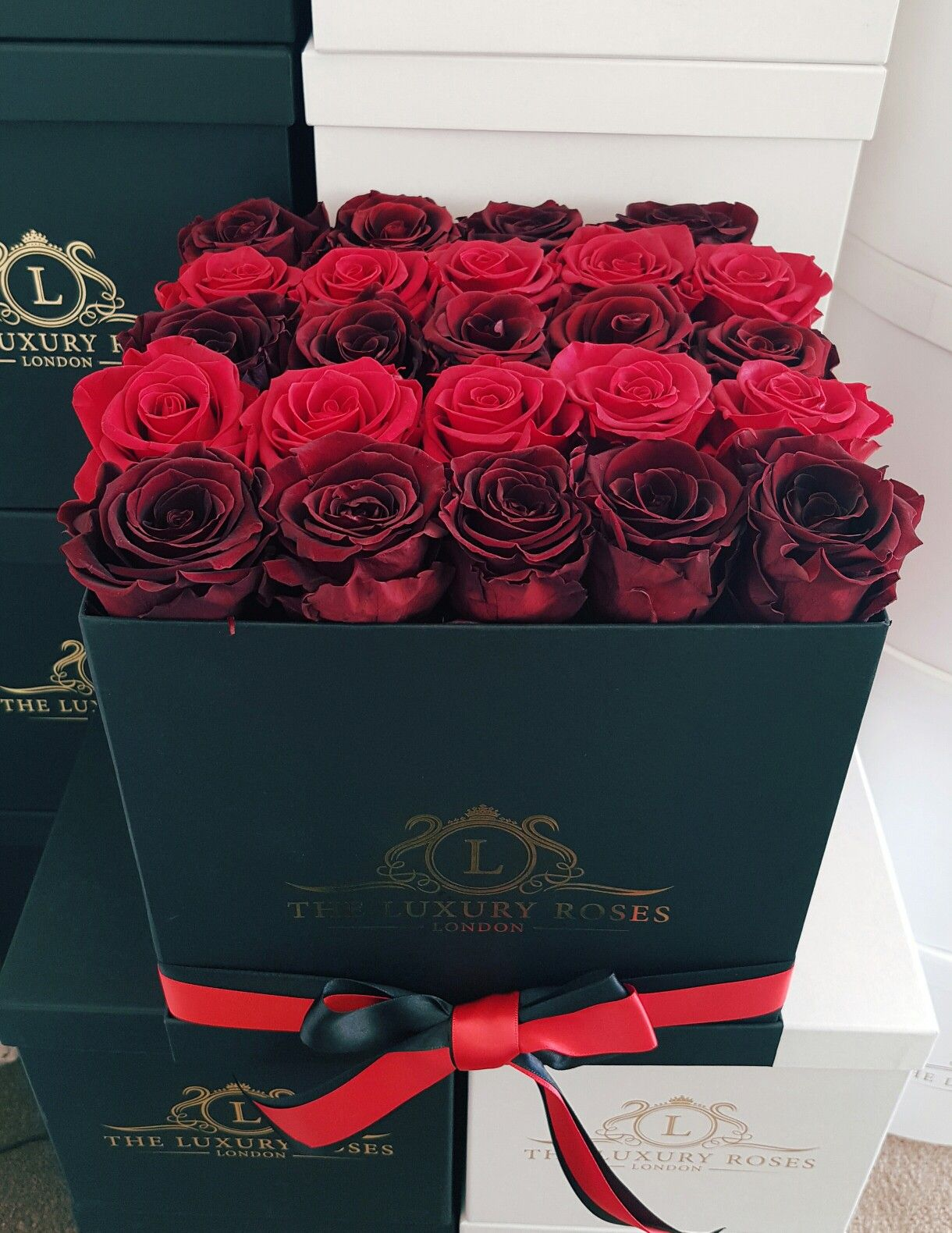 Infinity Box Of Roses That Last Forever Box Roses Forever Rose Flower Company