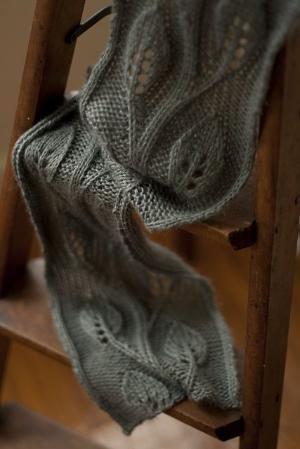 patrón libre para la bufanda con el patrón de la hoja por trantien ...