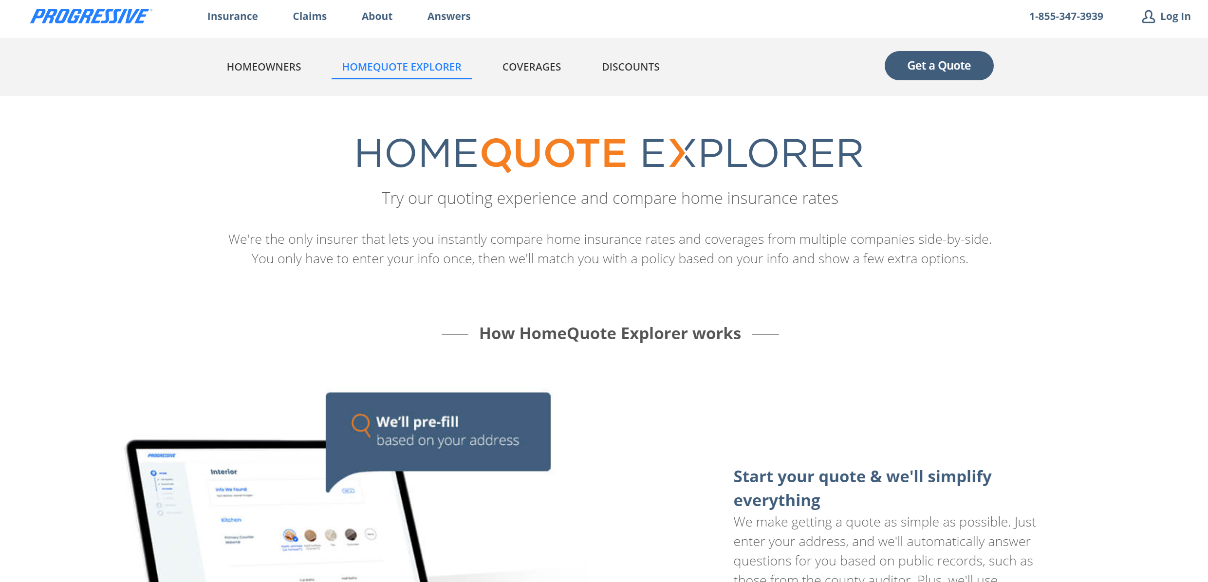 Progressive Have This Interesting Quoting Experience For Home That Compares Rates From Other Companies Side By Si Home Insurance Quotes Insurance Quotes Quotes