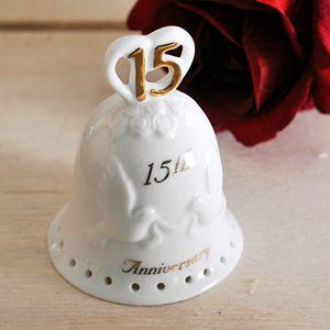 15th Wedding Anniversary Porcelain Bell   15th wedding anniversary ...