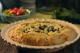 Rustic Potato and Greens Pie