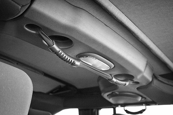 All Things Jeep - Dual Rear Grab Strap JK (2007-2014) - For Use With Soft Tops Only, Black