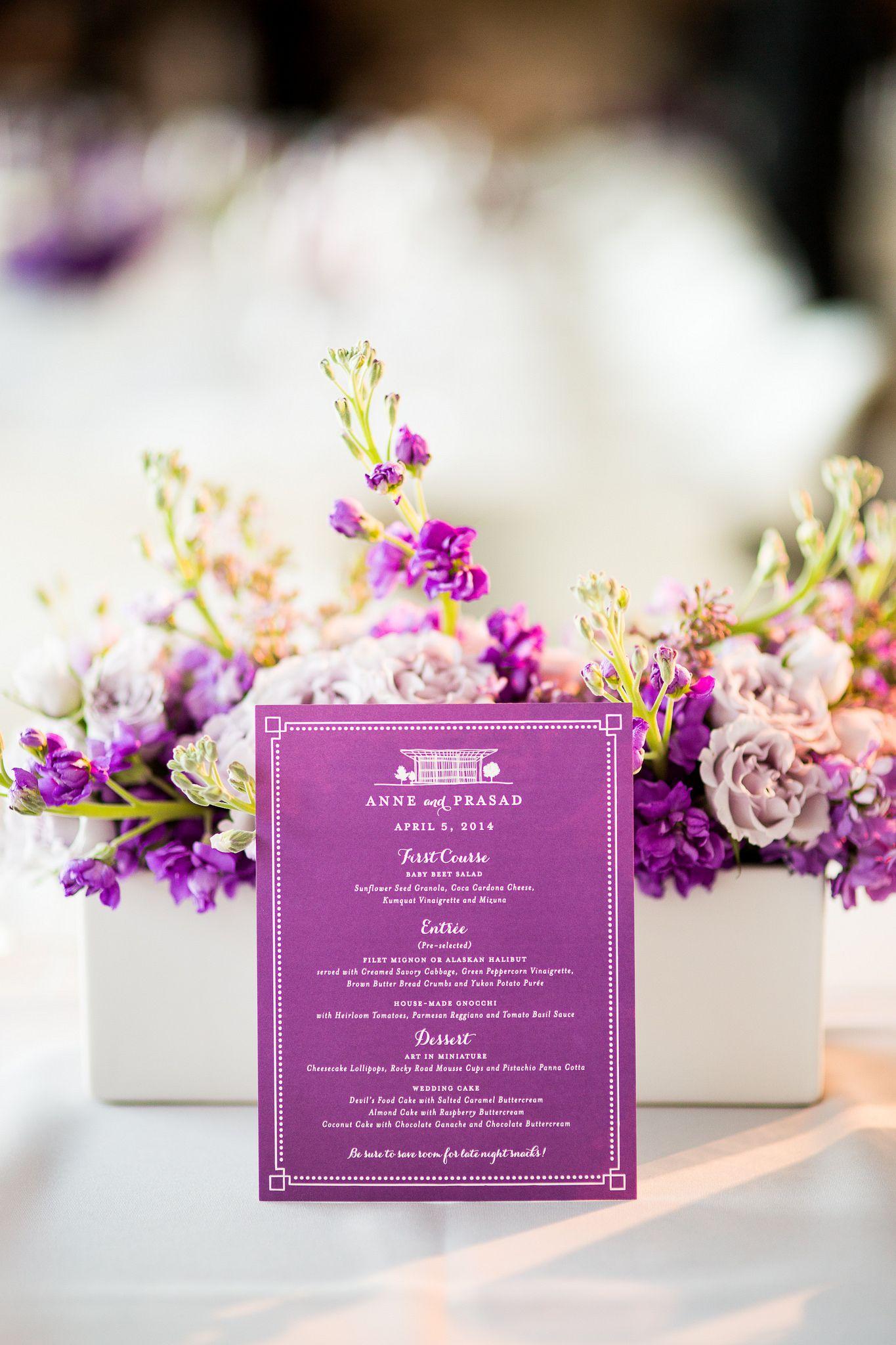 Perfect way to set up a wedding menu #blisschicago #weddings ...