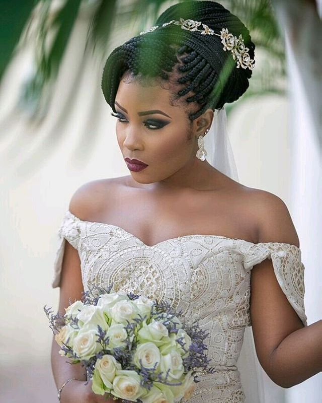 Wedding Hairstyles With Box Braids: This Is Bridal Shot Is Inspired By Top Vendors In The