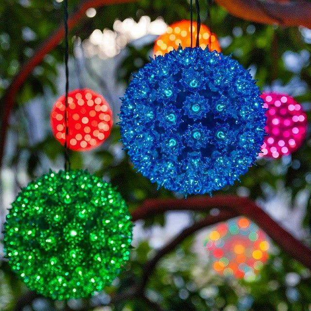 beautiful led starlight spheres in so many bright colors hang starlight spheres in a rainbow of hues from tree branches across the porch or indoors