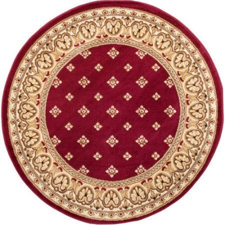 Well Woven Barclay Hudson Terrace Transitional Border Red 9\u00273\