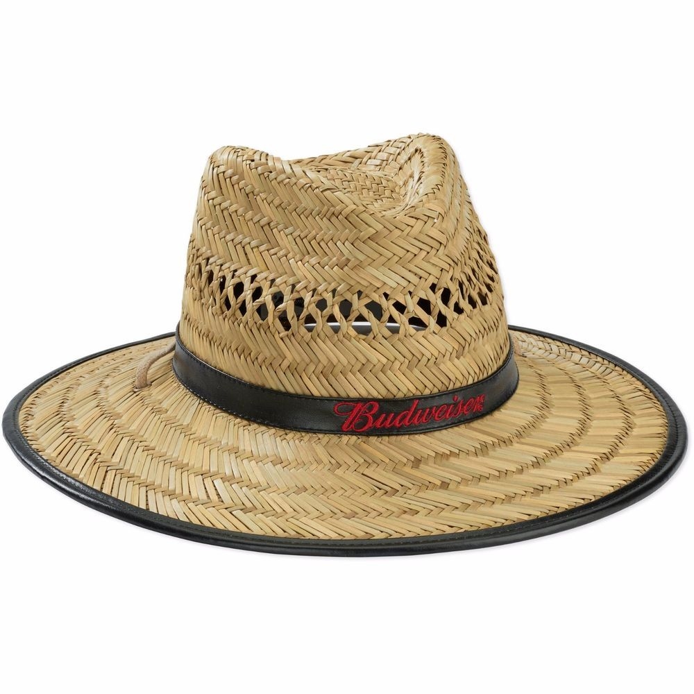 Men s Budweiser Lifeguard Hat Straw Licensed By Bud Beer Spring Break Must-Have   Budweiser  Lifeguard 0daa0f84d566