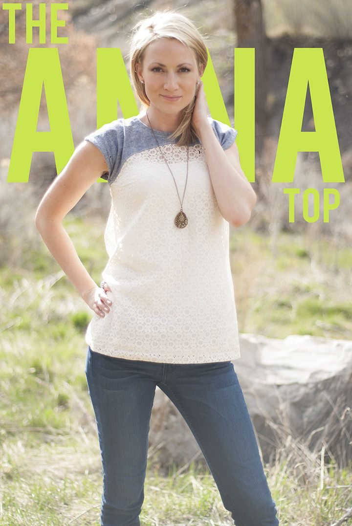I have to make this with the lace - love!!! - Shwin&Shwin: Anna Top ...