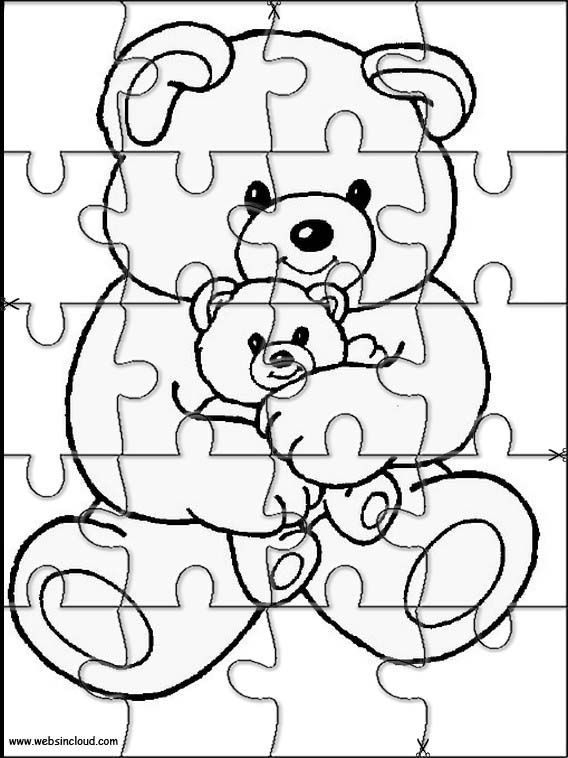 Printable jigsaw puzzles to cut out for kids Animals 11