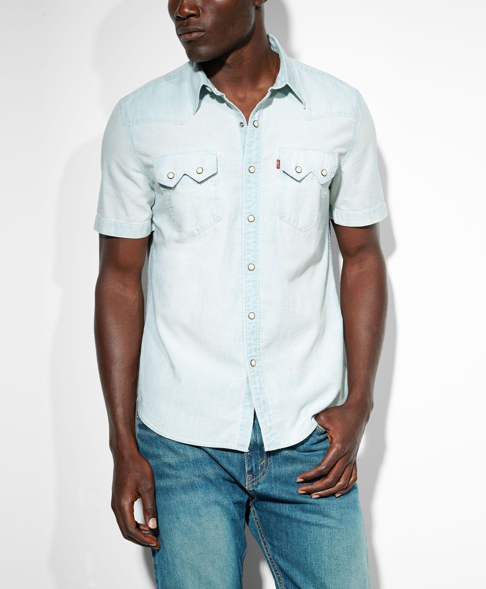 a674b12cabd    Levis Sun Bleach Sawtooth Western Shirt