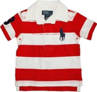 80dcdc15978a0 Amazon.com: Polo Ralph Lauren Baby Boy's Striped Big Pony Rugby ...