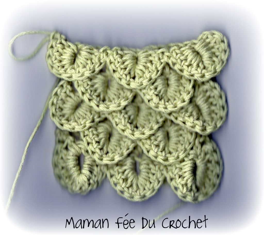 maman f e du crochet comment faire le point crocodile le crochet pinterest crocodiles le. Black Bedroom Furniture Sets. Home Design Ideas