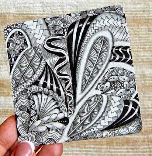 Lilyu0027s Tangles Zentangle@ Malen Pinterest Zentangle, Dibujo y
