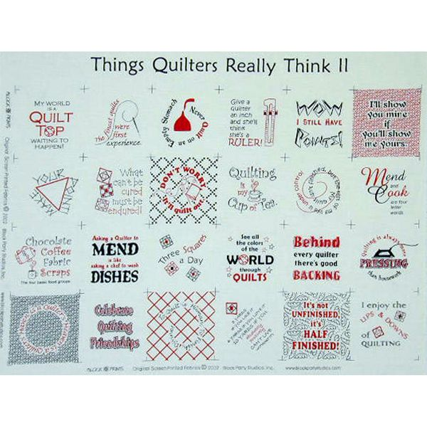 Say It With Words - Things Quilters Really Think II