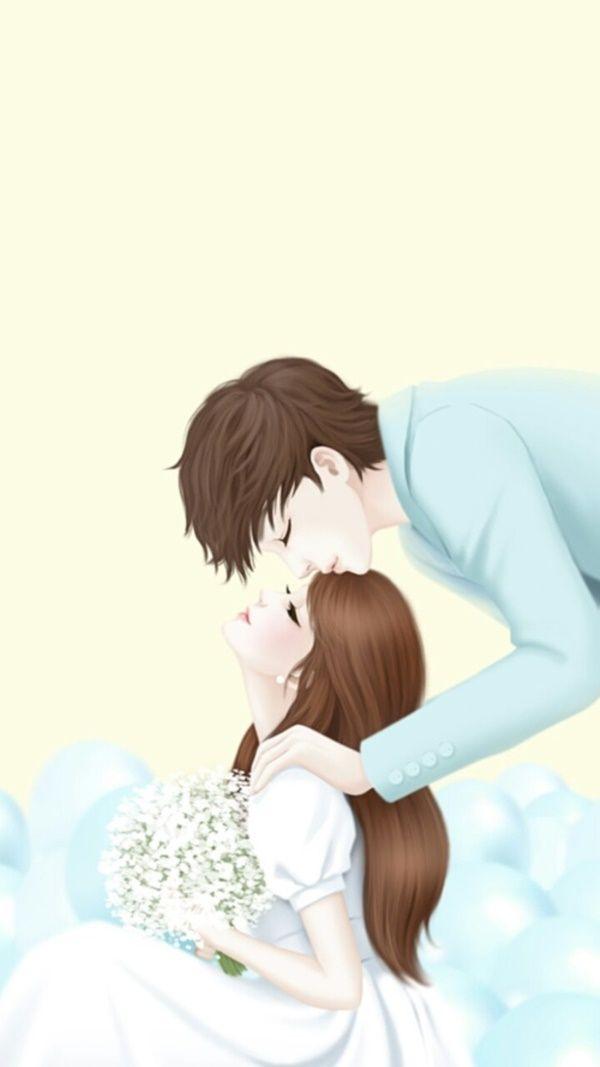 60 Cute Cartoon Couple Love Images HD | Love cartoon ...