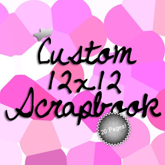 Custom 12x12 Scrapbook Album by MayQueenCrafts on Etsy, $180.00