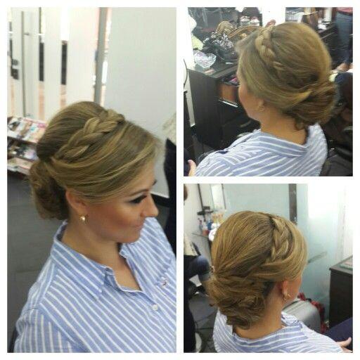 #hair #cabello #peinado #upDos #recogido #hairdresser #hairstylist #estilista #peluquero #braid #trenza