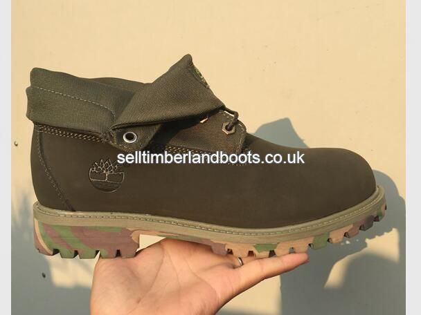 9afb5e49c764 2017 New Timberland Women s Roll-Top Classic Boots Camo Green Outlet UK  £72.00