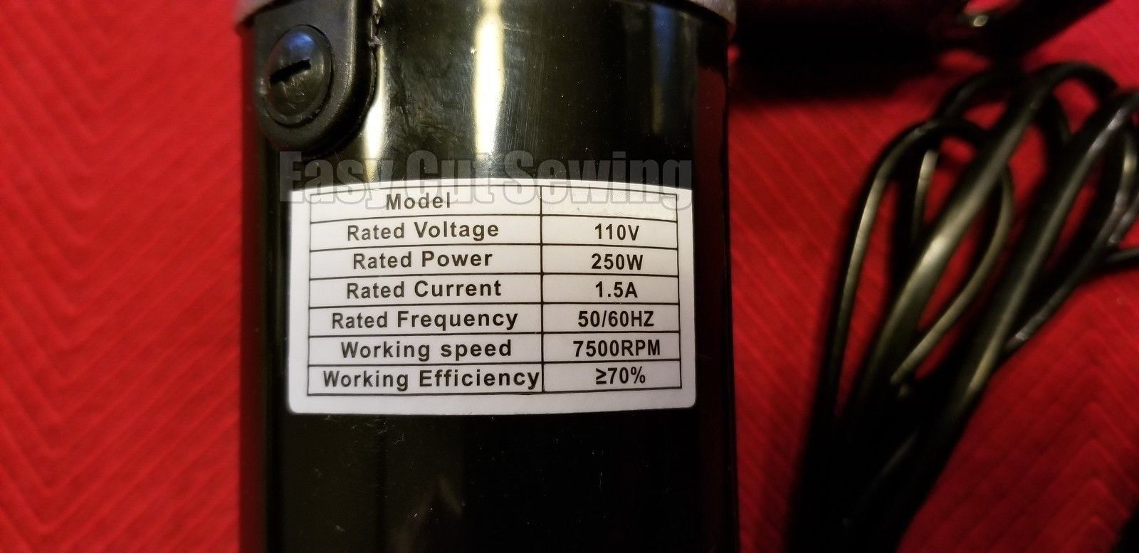 Sewing Machine Motor 250 WATTS  Pfaff 130,30  Complete With Foot Control 2.5 AMP