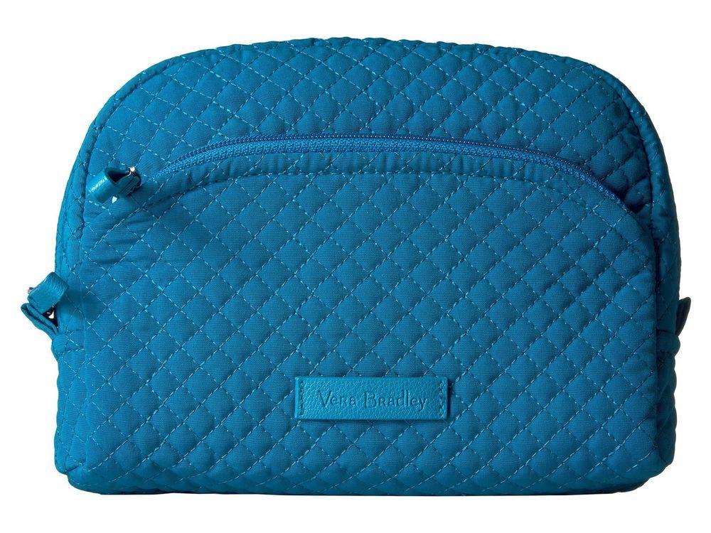 e14c669587 Vera Bradley Iconic Medium Cosmetic Bag Microfiber Bahama Bay
