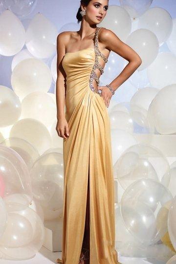 Sheath One-Shoulder ball gown   Abendkleid, Kleider, Ballkleid