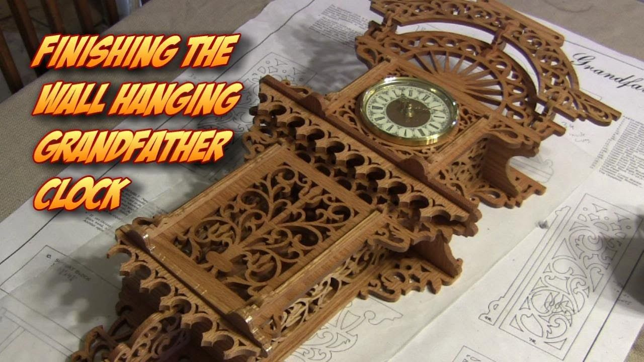 Finishing The Wall Hanging Grandfather Fretwork Clock Pt5 Sanding