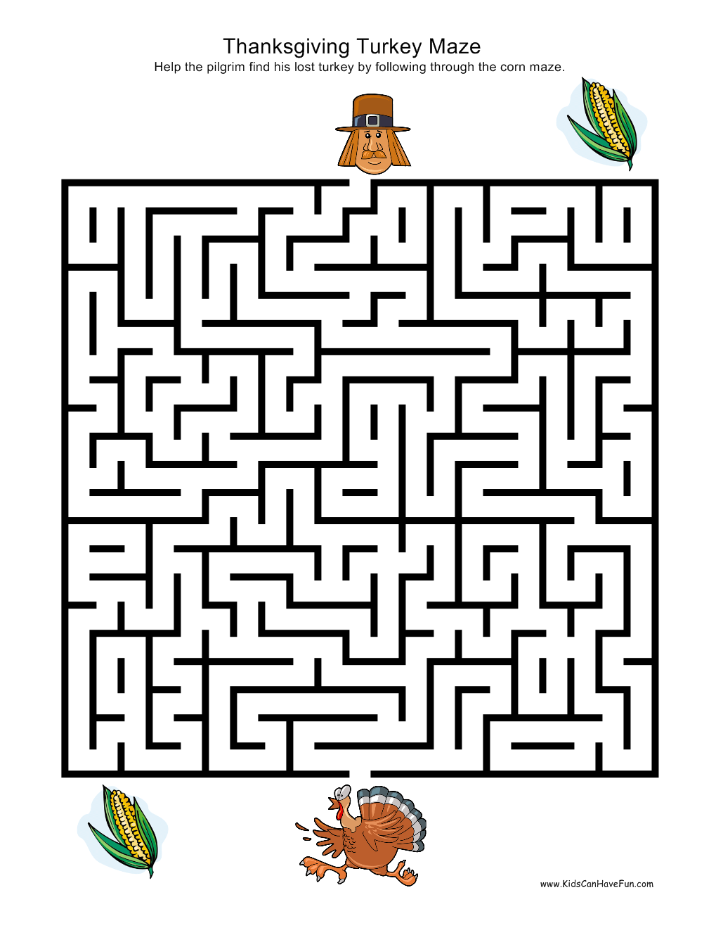 Thanksgiving turkey maze | Fall Is My Favorite | Pinterest ...