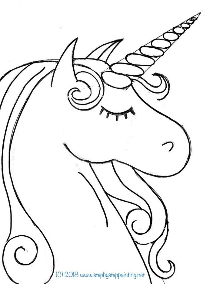 How To Paint A Rainbow Unicorn Easy Step By Step Painting Unicorn Painting Unicorn Coloring Pages Unicorn Sketch