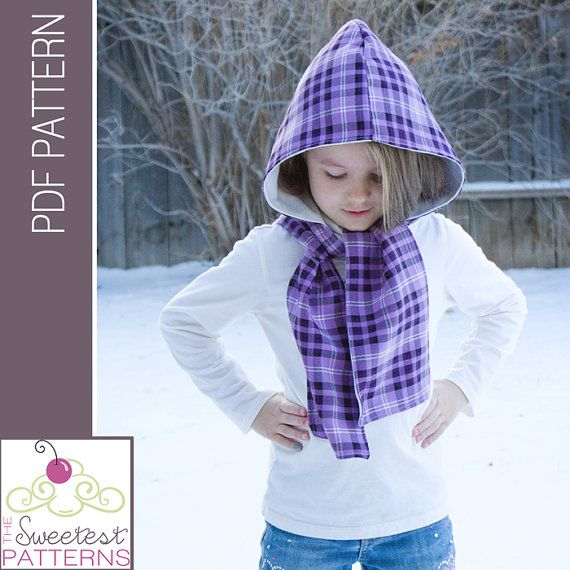 The Reversible Scoodie Hooded Scarf Pdf Sewing Pattern With Optional