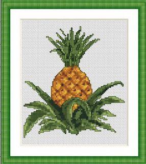 Free Cross Stitch Patterns by AlitaDesigns: Pineapple Cross Stitch Pattern