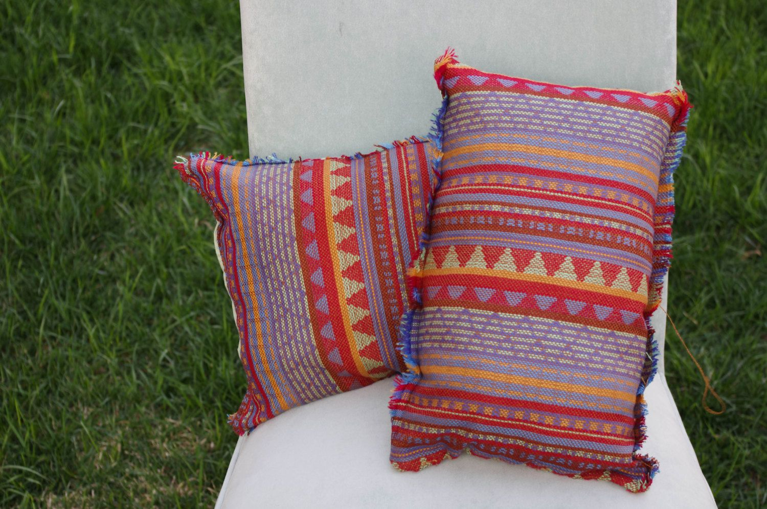 aztec throw pillow by NeonChalice on Etsy, $30.00