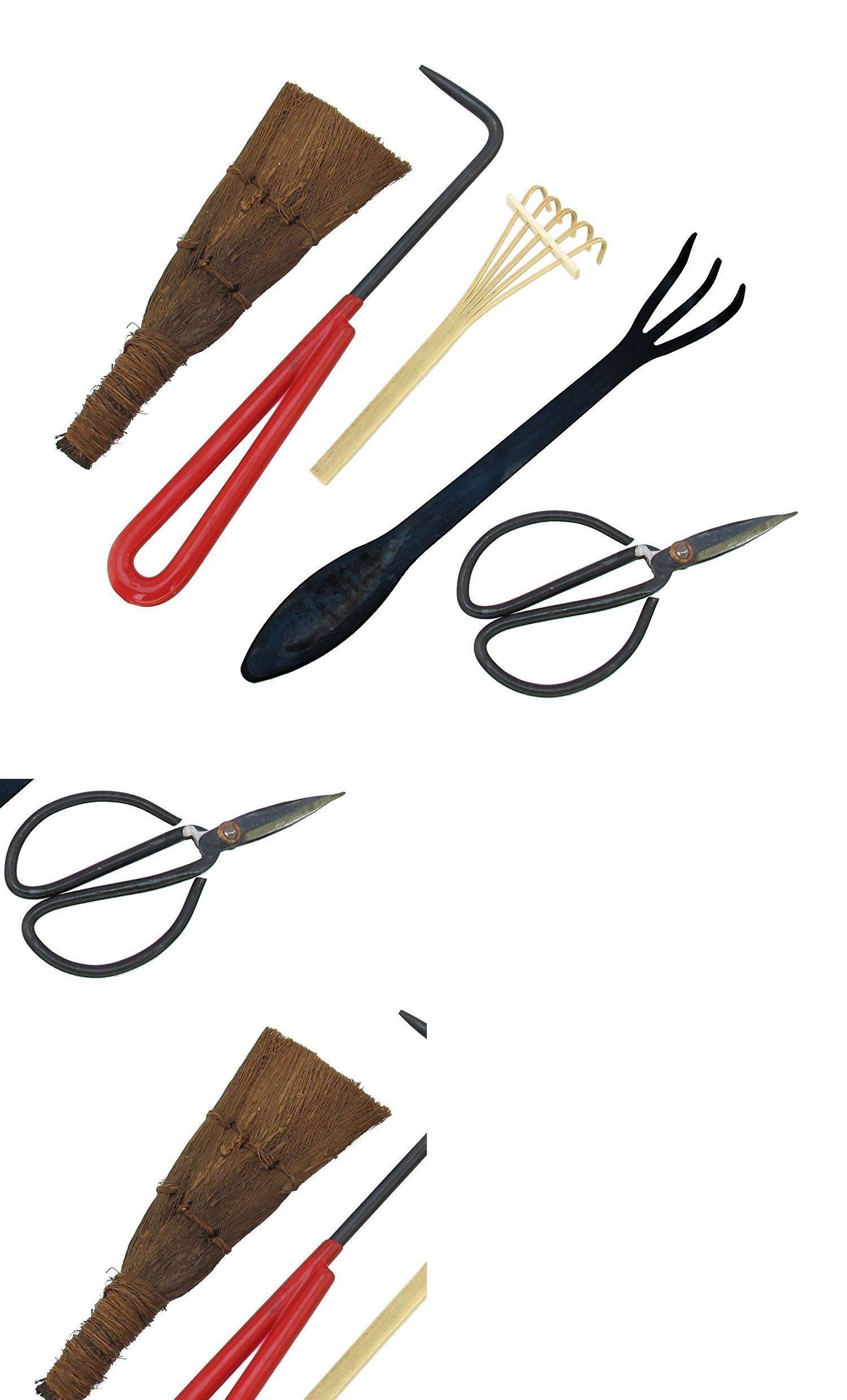 Bonsai Tool Set 5pc Root Rake Shear Root Pick Moss Brush Ebay Bonsai Tools Bonsai Bamboo Brush