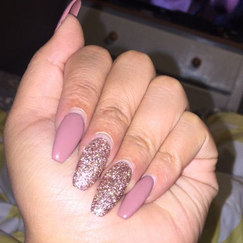 Love These Colors Together Pink Nude With A Pink Champagne Glitter