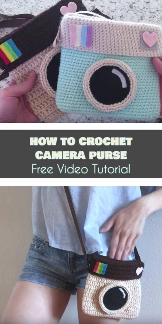 Crochet Camera Purse Die besten Ideen [Free Pattern and Video Tutorial #crochetcamera