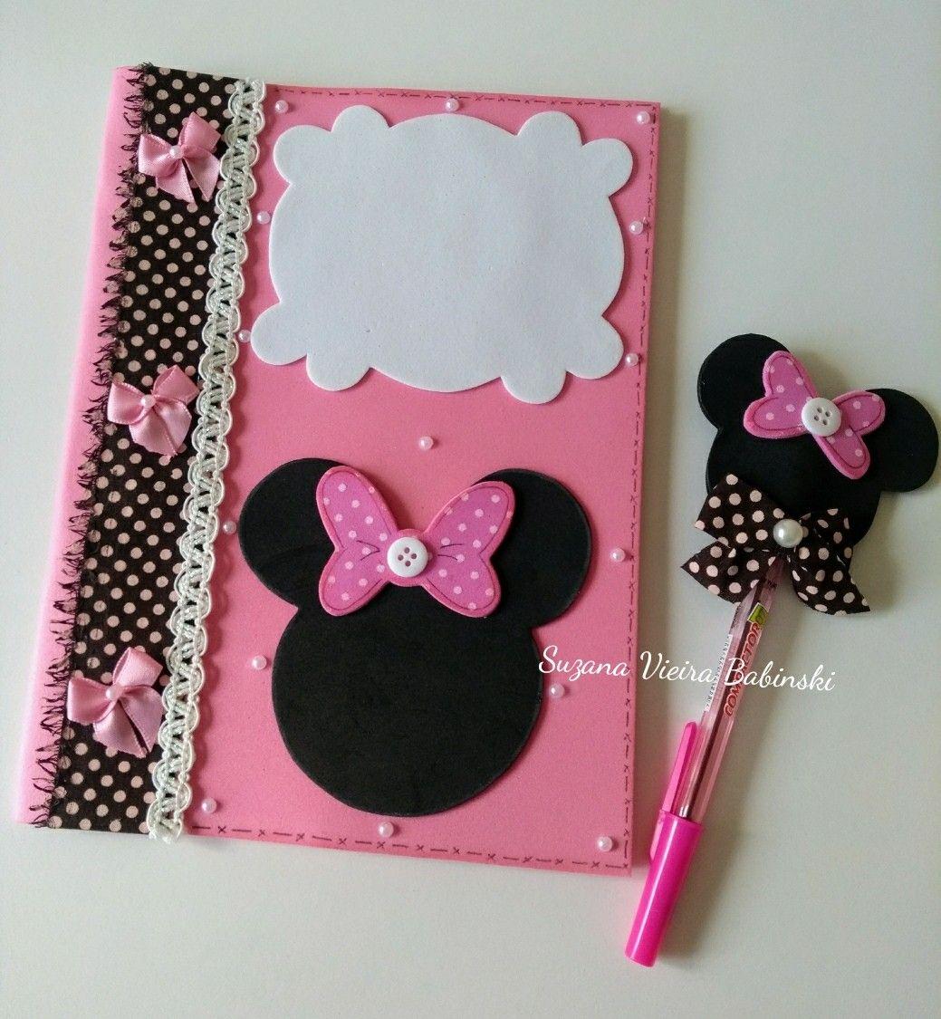 Kit capa para caderno e ponteira em Eva tema Minnie | lápices en ...
