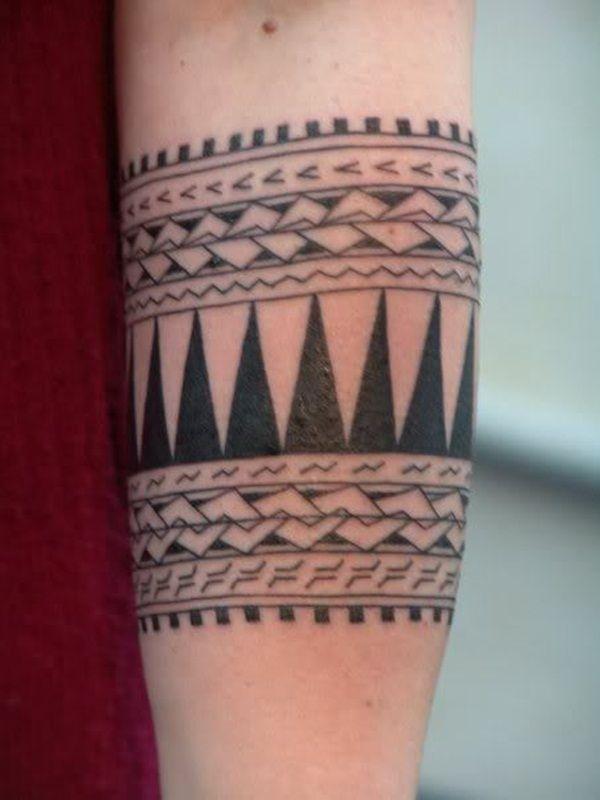 Rick Johnson 1950 2006 Aztec Tribal Tattoos Tattoos Stripe Tattoo