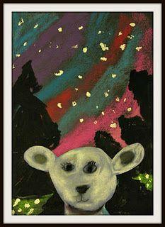 polar bear with northern lights