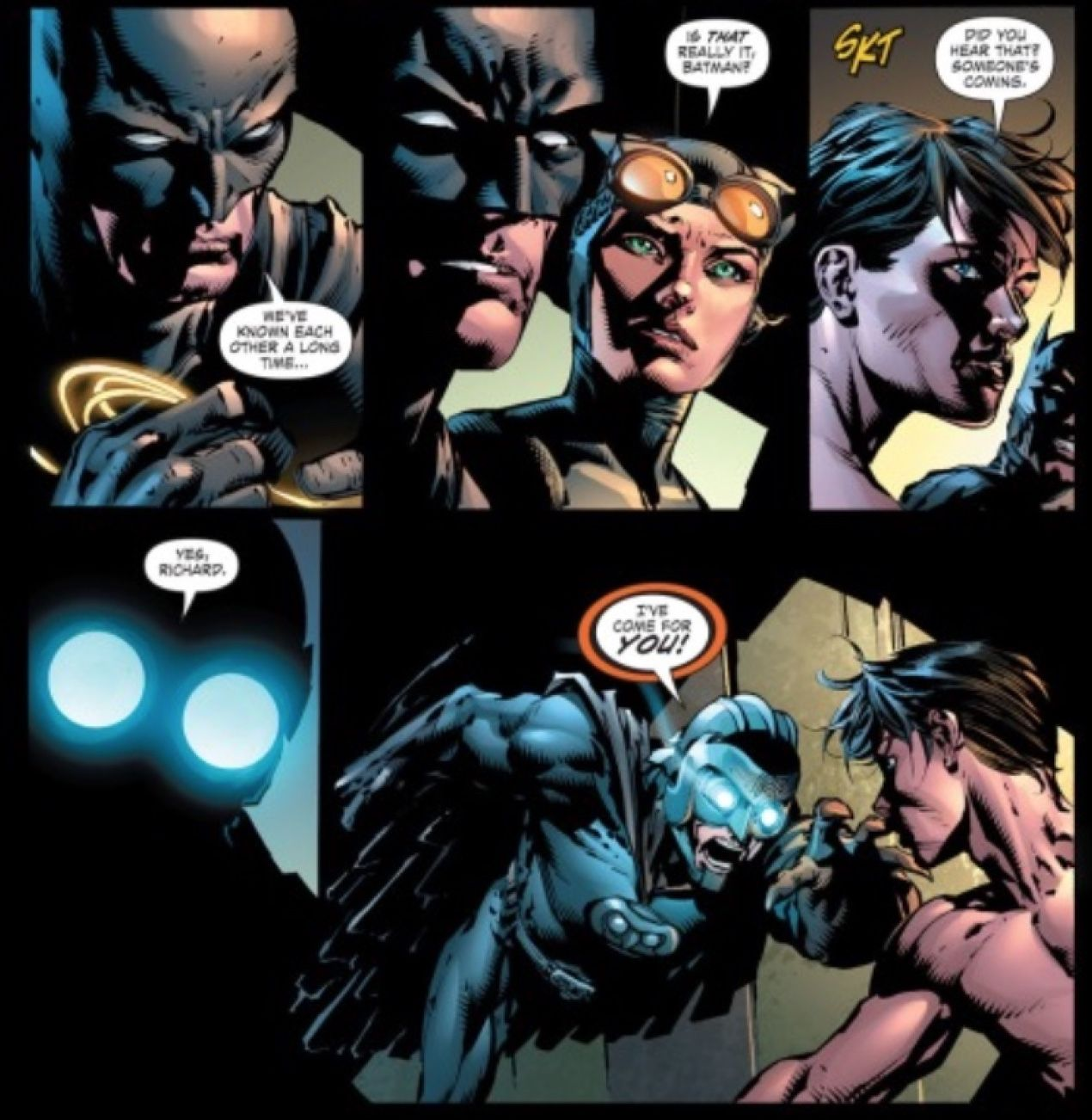 FOREVER EVIL: Owlman isn't giving up on stealing Batman's partner, Nightwing. 1/2