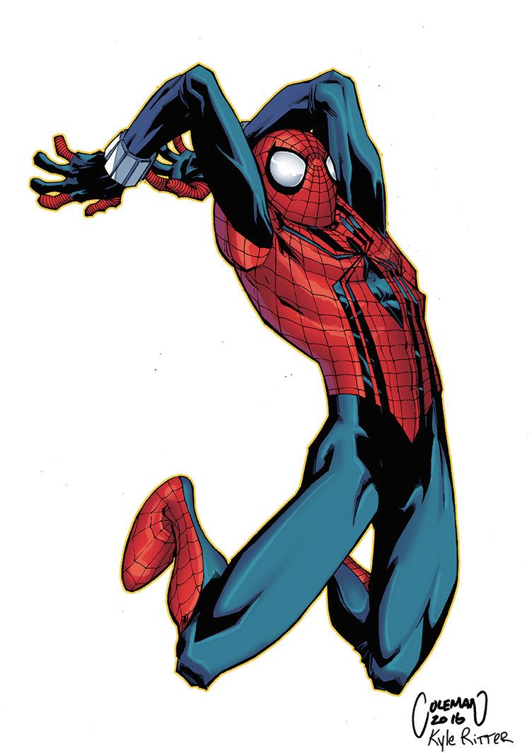 Art Color Me Did This For Fun Love Spider Man Played With The