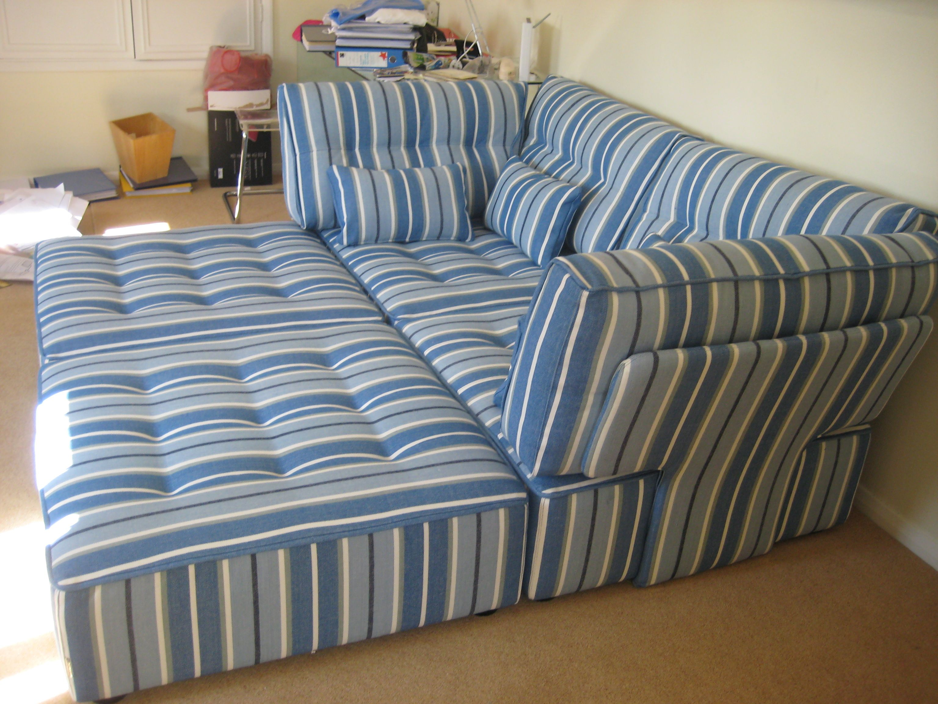 Tapas Modules In Designers Guild Ticking 2 Corners And 2 Footstools They Make A Fabulous Bed For Two