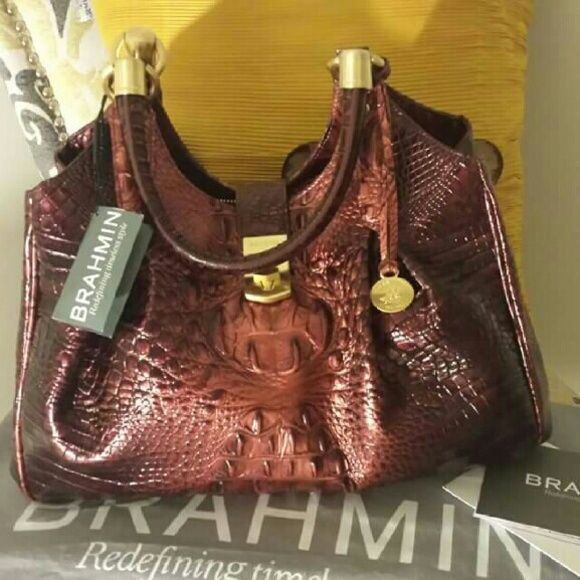 New Brahmin Handbag With Tag Dust Bag And Registration Card Bags Totes