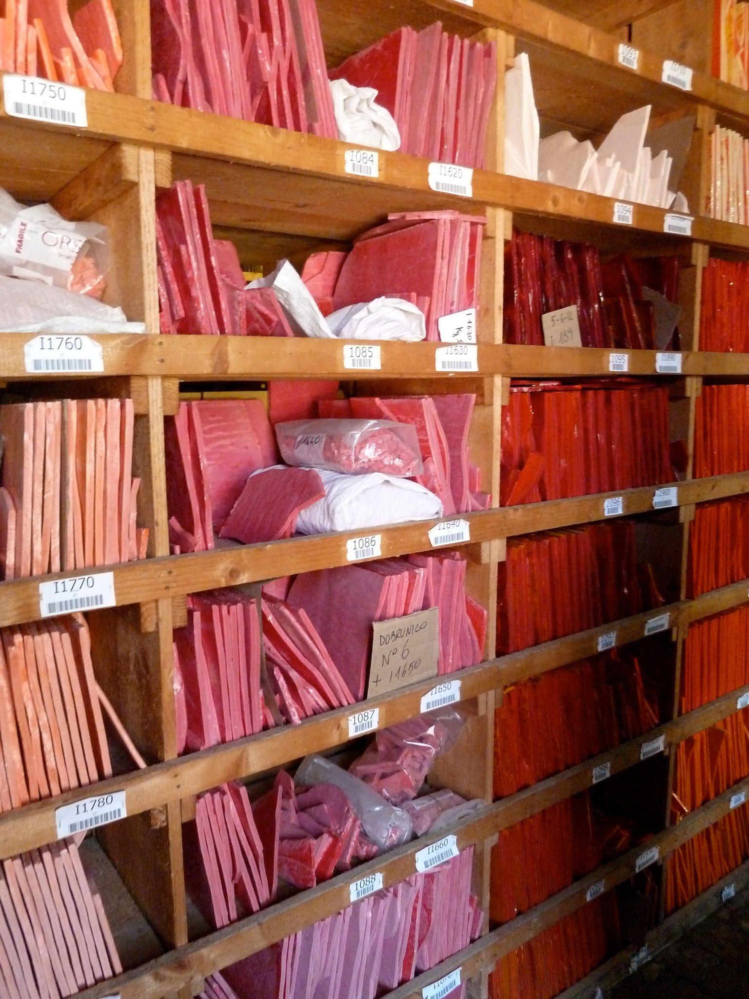 Pinks Orsoni colour library Venice Italy, Orsoni Smalti