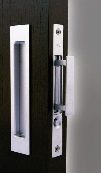 Pocket Door Edge Pull Button Release Halliday Baillie Edge