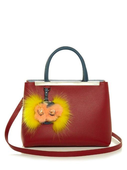 052b267aa303 FENDI Petite 2Jours Leather Tote.  fendi  bags  hand bags  fur  tote ...