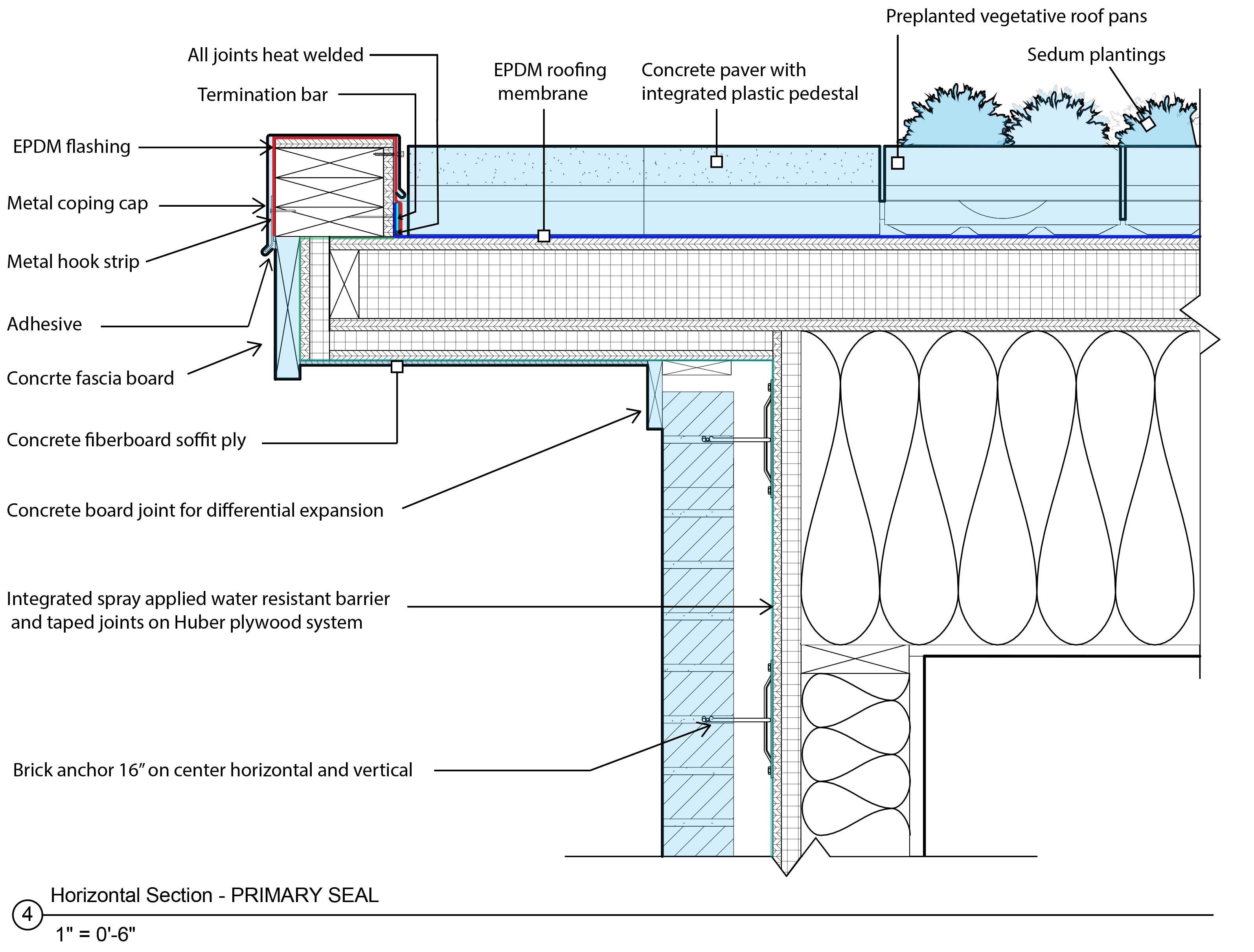 Energy Efficient Revit Construction Details Energy Efficient Construction Epdm Roofing Concrete Pavers