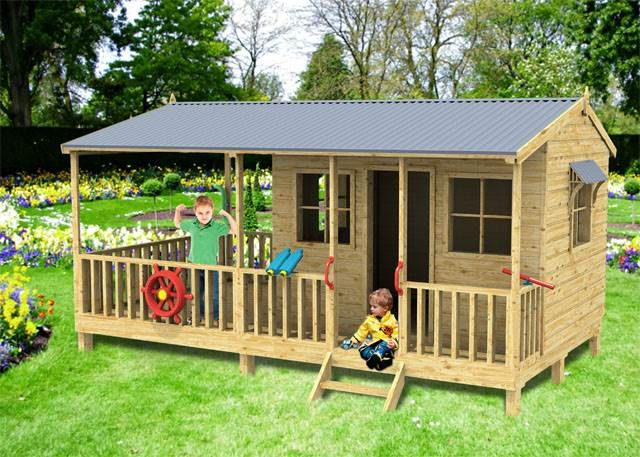 The Awesome Tumbleweed Lodge Cubbyhouse Is A Winner To Get Kids Outdoors Price 2897 00 Size 4200 X 2400 With Images Playground Equipment Diy Cubby Houses Play Houses